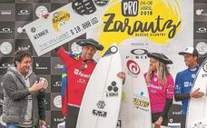 Pauline Ado y Jorgann Couzinet, campeones en el Pro Zarautz