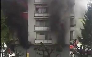 Desalojado un edificio en Beasain por un incendio