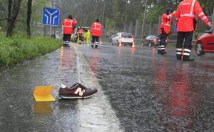 Fallece atropellada una mujer en un accidente en la variante de San Sebastián