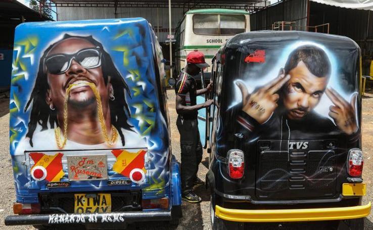 Arte en el los autobuses