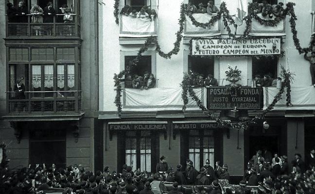 1928. Recibimiento multitudinario a Paulino Uzcudun