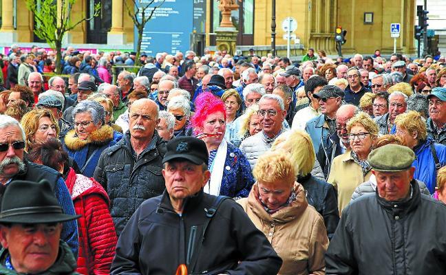 Los pensionistas vascos cogen fuerza de cara a otra gran movilización en mayo