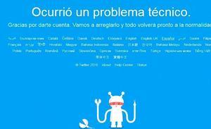 Twitter sufre una caída en varios países
