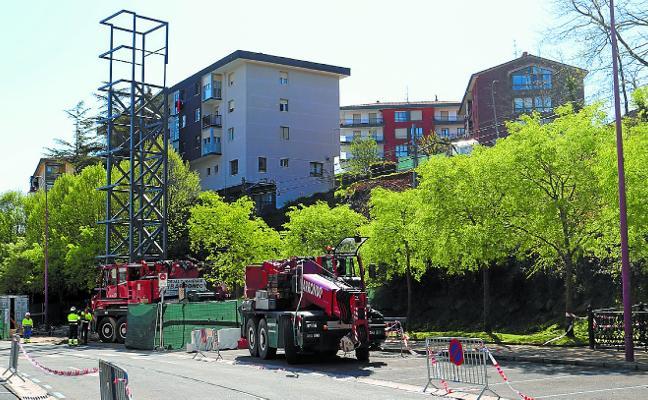 El ascensor urbano de Azken Portu Goia estará listo para finales de junio