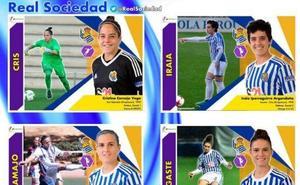 La Real Sociedad, incluida en un álbum de cromos de la Liga femenina de fútbol inventado por una madre