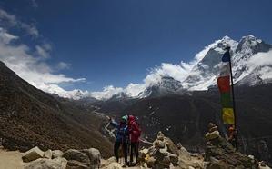 temporada de primavera en el Everest