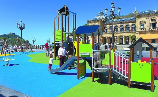 Alderdi Eder estrena nuevo parque infantil