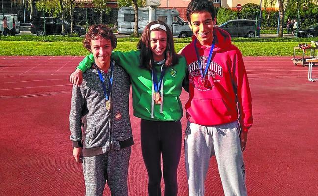 Varias medallas para los atletas locales en la primera jornada del Provincial