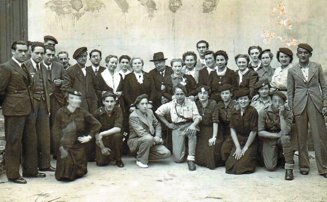 Arrasatearras aficionados al teatro en 1938