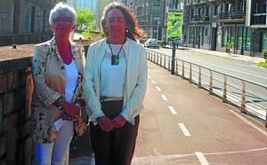Diputación inicia en Pasaia la colocación de nuevos paneles en bidegorris