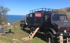 Alojarse en Donostia barato: un camión en Igeldo