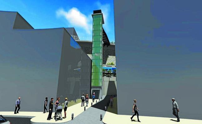 El ascensor y la urbanización de la zona de Aldatze, listos para finales de año