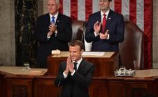 Macron desmonta las políticas de Trump ante el Congreso