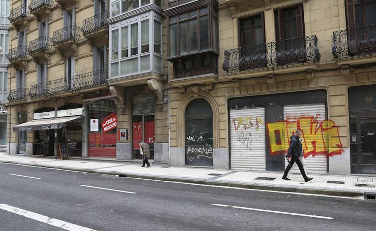 El declive de las donostiarras calles San Bartolomé y San Martín
