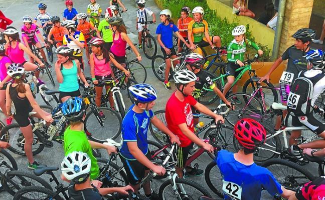 La subida en bici a Erauskin, el viernes
