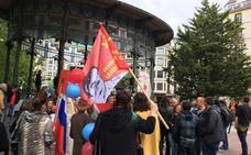 Manifestación en San Sebastián en el 74 aniversario de la II Guerra Mundial