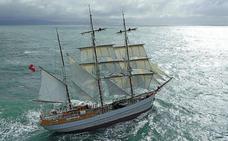 El velero 'Kaskelot' anticipará el miércoles con su llegada el Festival Marítimo de Pasaia