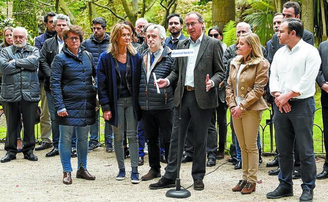 El PP vasco censura el discurso «rancio» del PNV y lo compara con Cataluña