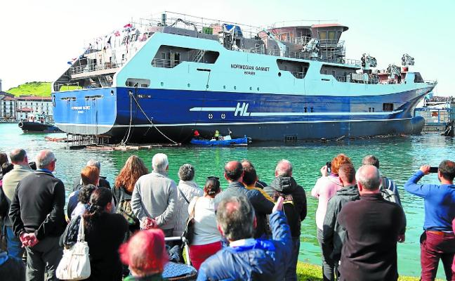 Las pesquerías nórdicas animan el negocio de los astilleros vascos