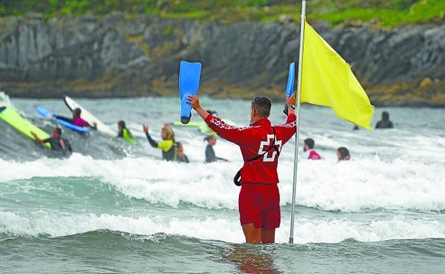 Surfistas y bañistas de la Zurriola dispondrán de los mismos metros que el pasado verano