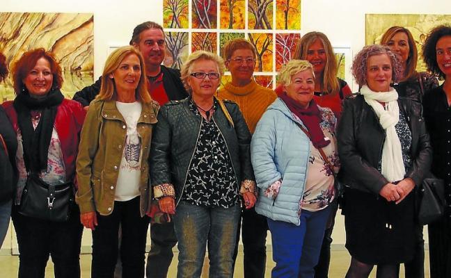 Inaugurada la exposición del taller de pintura de Foronda