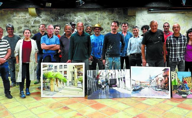Dieciséis artistas participaron en el VII Concurso de Pintura de Egur