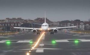 Pamplona y Loiu prestaron su pista a 74 vuelos desviados desde Hondarribia en 2017