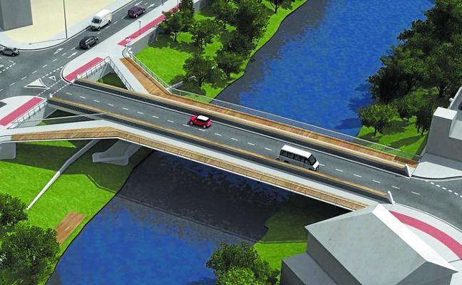 El nuevo puente de Txomin será una realidad en otoño de 2019 tras catorce meses de obras