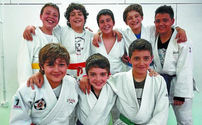La final del Campeonato de Judo de Gipuzkoa, en Bikuña