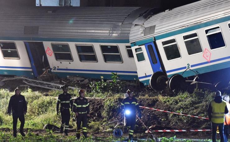 Accidente de tren en Italia