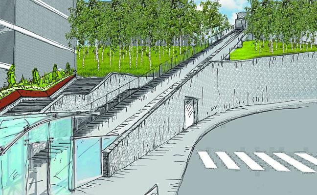 Larratxo contará en 2019 con el segundo ascensor inclinado de la ciudad tras el de Morlans