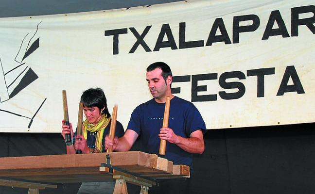 La Txalaparta Festa celebra hoy los actos centrales con música y ´comida popular