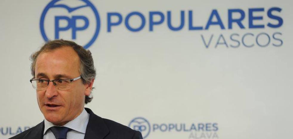 El PP vasco avisa al PNV de que si apoya la moción de censura a Rajoy perderá su apoyo en Euskadi