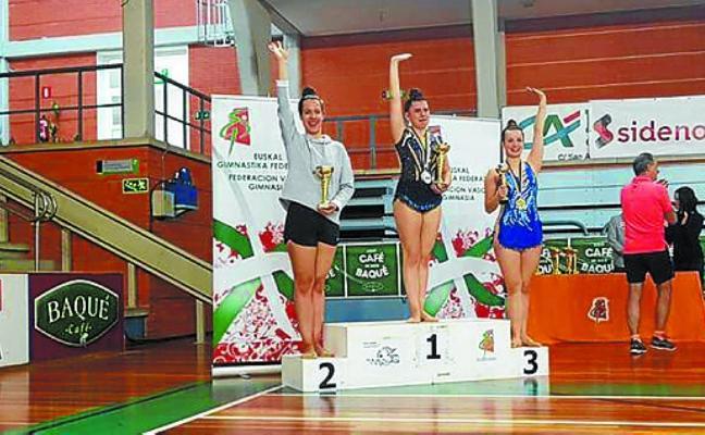 Podium para la gimnasta Patricia Pérez
