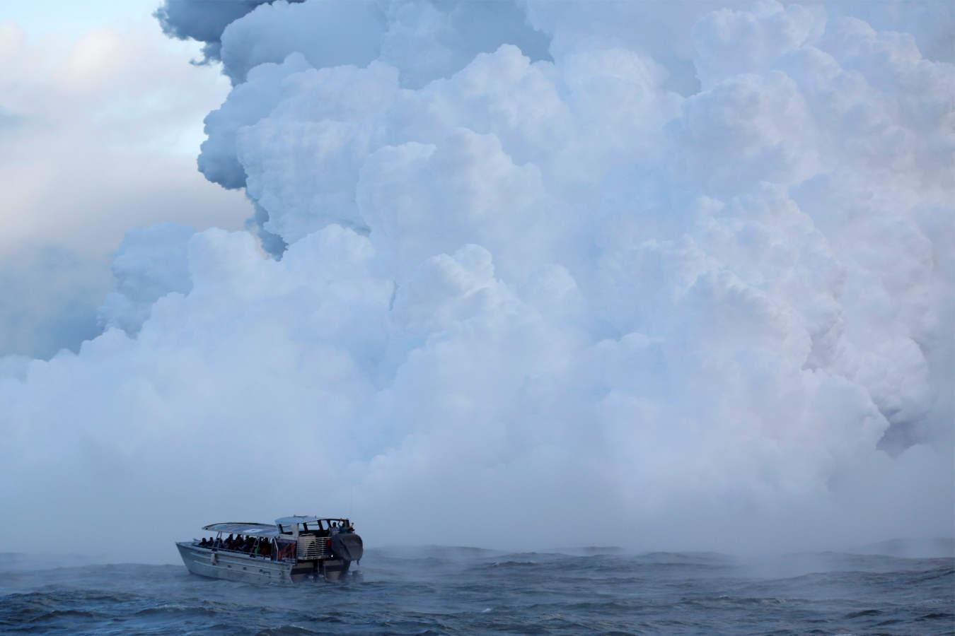 El volcán Kilauea de Hawái frena a los turistas
