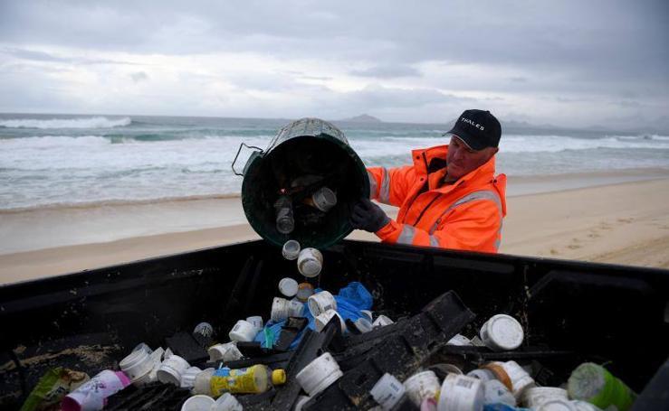 Limpieza de la costa de Australia