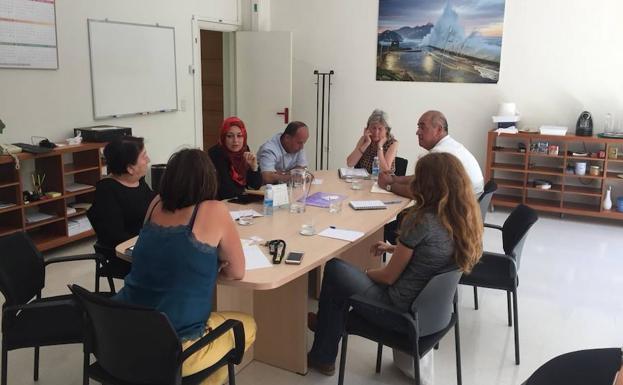 Imagen de una de las reuniones mantenidas esta semana en Euskadi.