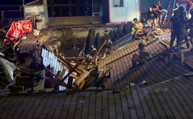 Colapso de un muelle deja 313 heridos en un concierto en Vigo