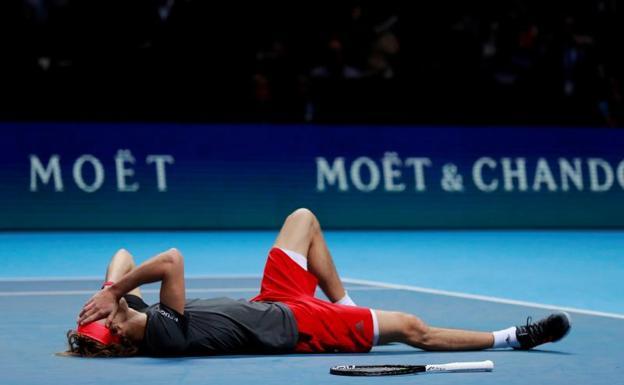 Federer-Zverev y Djokovic-Anderson, las semifinales de Londres