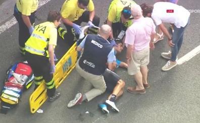 Mikel Landa y Egan Bernal hospitalizados con fracturas tras una fuerte caída en la Clásica de San Sebastián