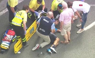 Mikel Landa recibe el alta en Hospital Donostia y es seria duda para la Vuelta