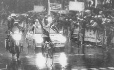 Raúl Alcalá, el 'donostiarra' que desafió a la tormenta en la Clásica San Sebastián de 1992