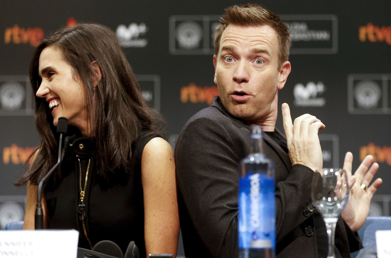 Ewan McGregor y Jennifer Connelly en el Zinemaldia