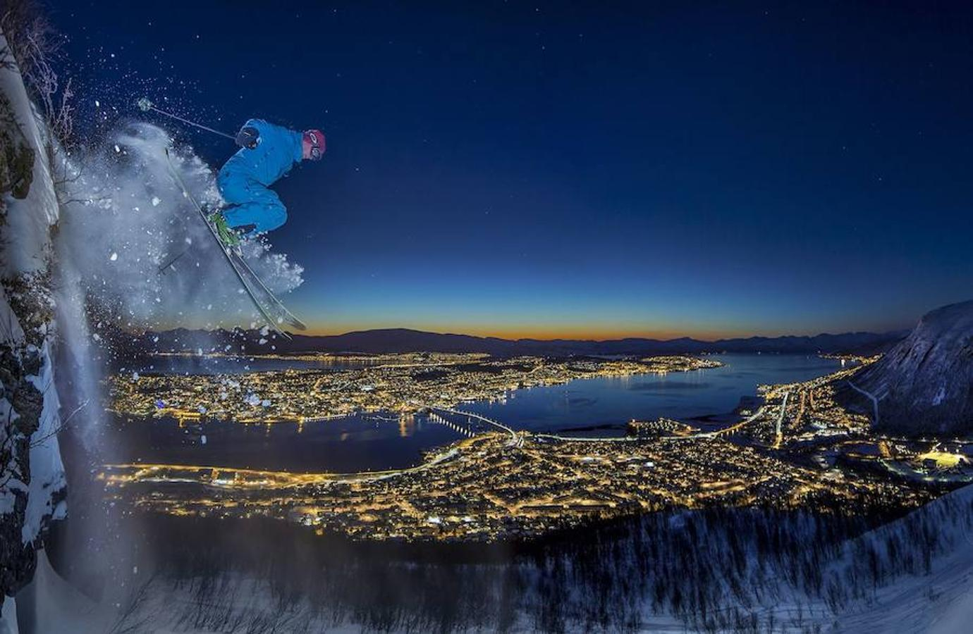 Urban skiing in the Arctic