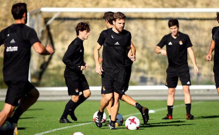 La Real prepara el partido ante el Lleida