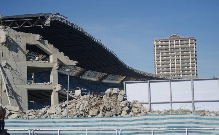 Siguen las obras en el estadio de Anoeta