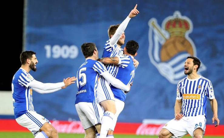 Las mejores imágenes del Real Sociedad - Deportivo