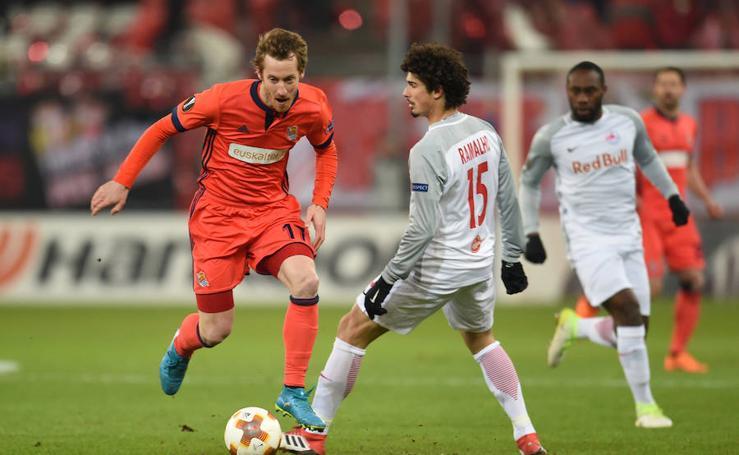 Las mejores imágenes del Salzburgo - Real Sociedad