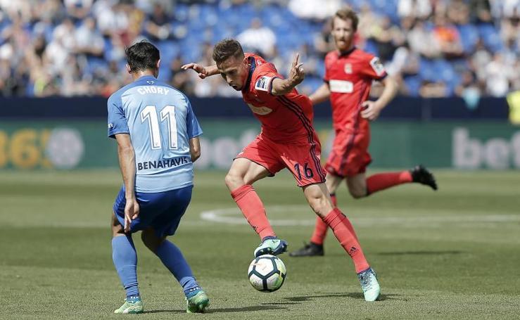 Málaga-Real Sociedad, en imágenes