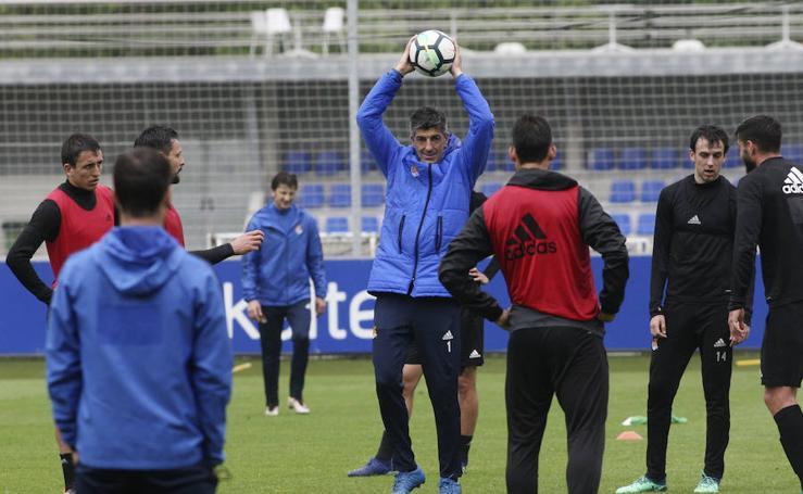 La Real Sociedad se entrena en Zubieta tras la derrota en Málaga